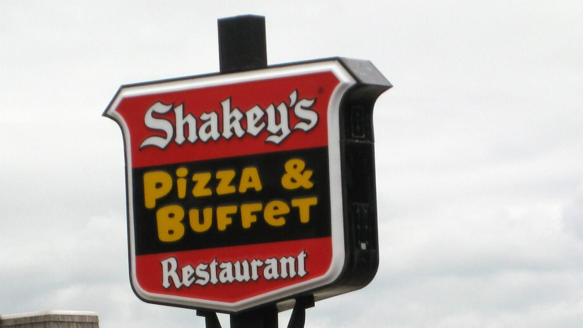 Shakey's Pizza sign