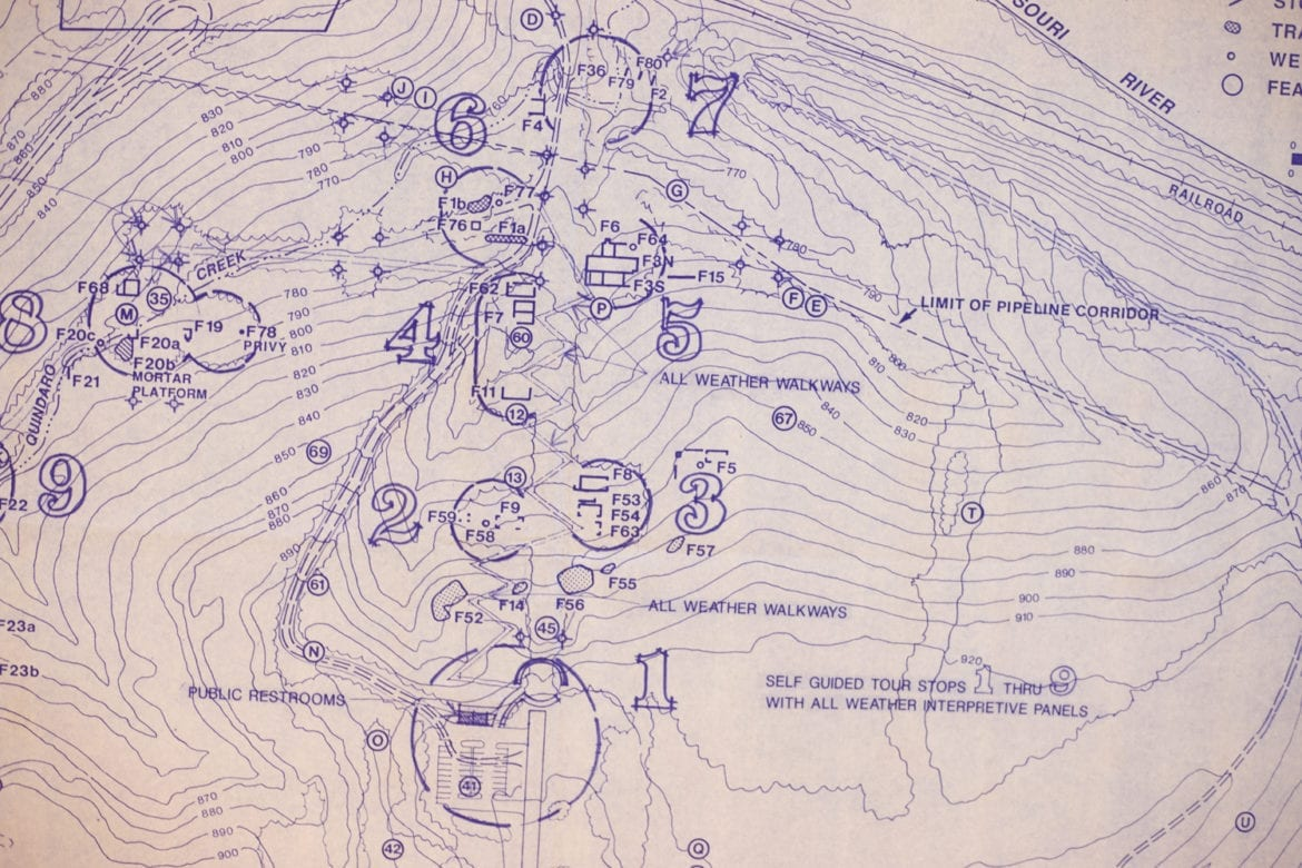 A map of the archaeological areas at the Quindaro site. (Brad Austin   Flatland)