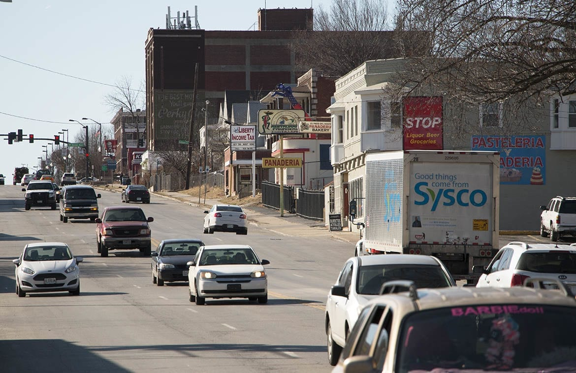 a stretch of Independence Avenue in Kansas City, Missouri