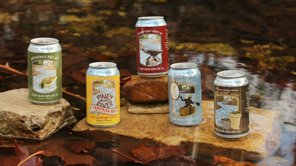 Piney River Brewing Co. cans