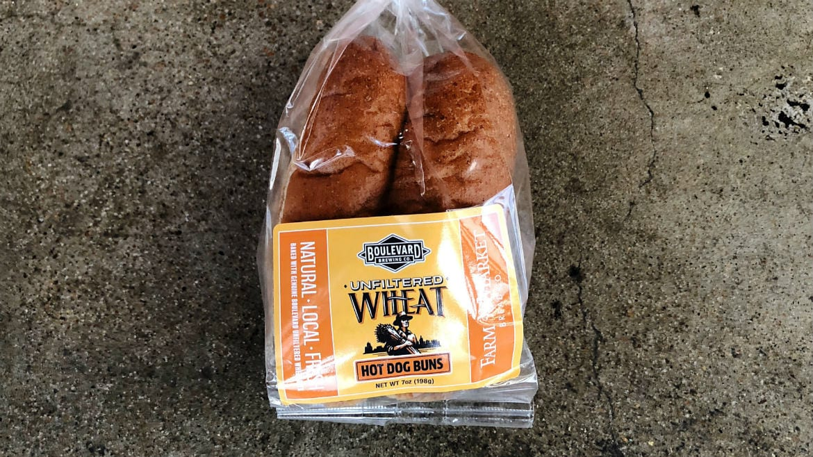 Farm to Market and the Boulevard Brewing Company have collaborated on an Unfiltered Wheat Hot Dog Bun