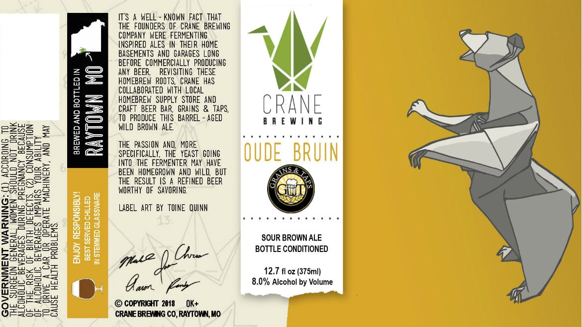 The label for Oude Bruin