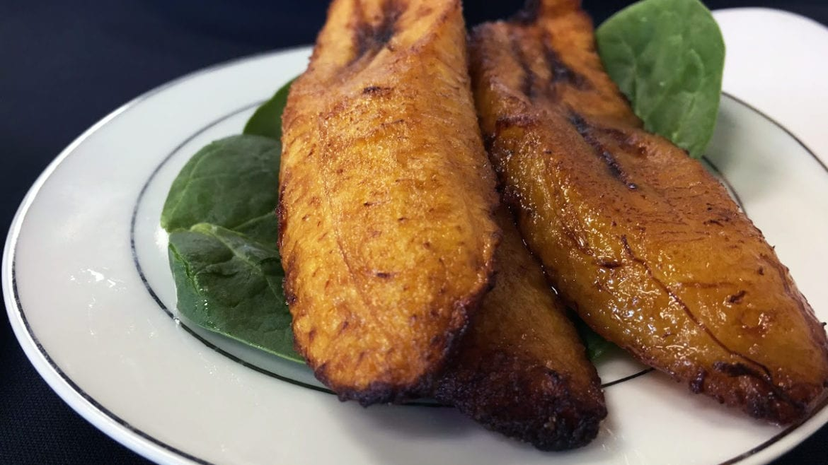 The fried plantains at Fannie's African Cuisine