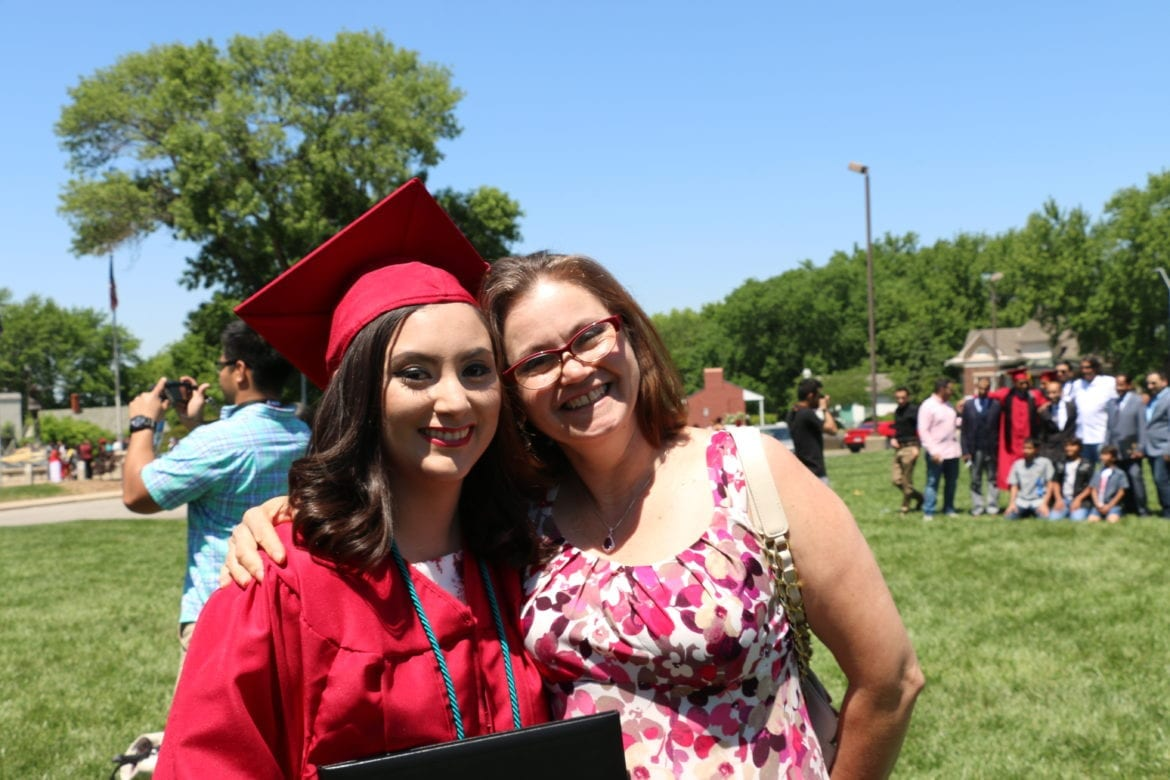 Wendy and her mother after graduation
