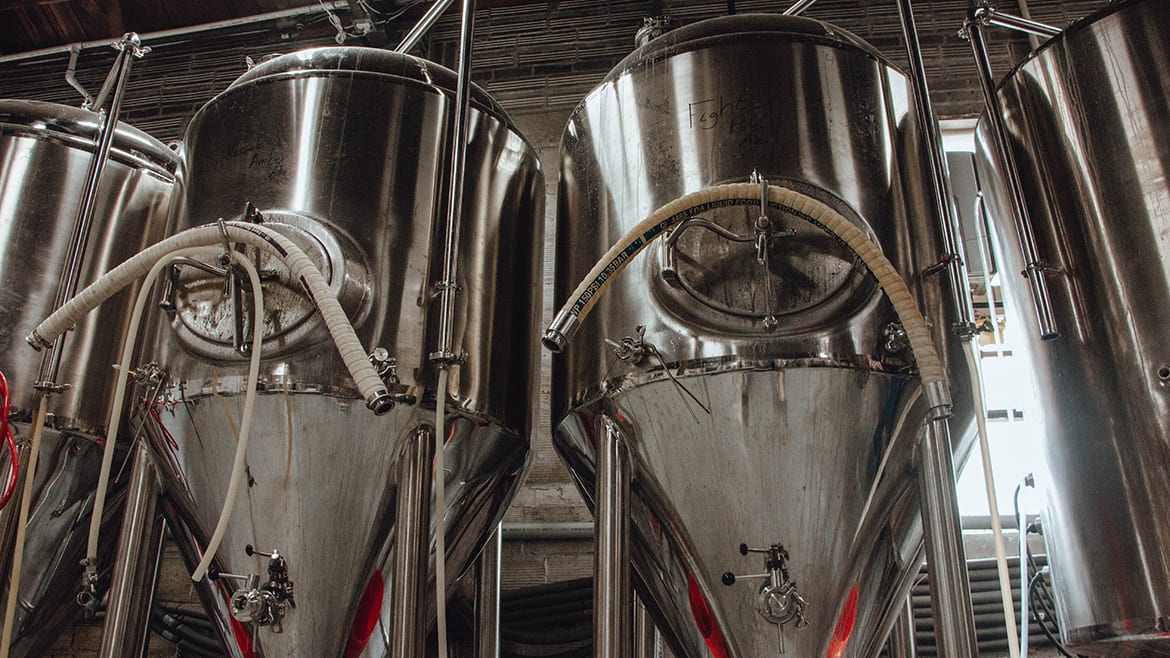 Callsign Brewing Co.'s tanks
