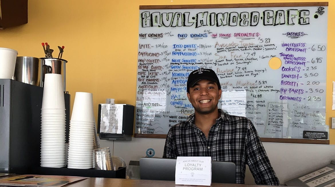 Dontavious Young, owner of Equal-Minded Cafe,