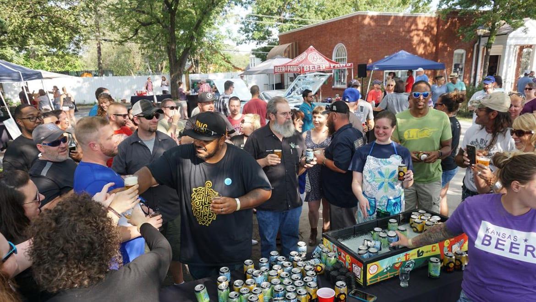 Woodie Bonds greets festivalgoers at last year's Hip Hops Hooray Beer Fest.