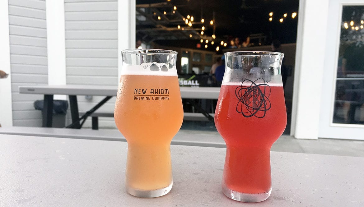 Number Theory Hefeweizen and Crimson Bog Sour are two of the beers
