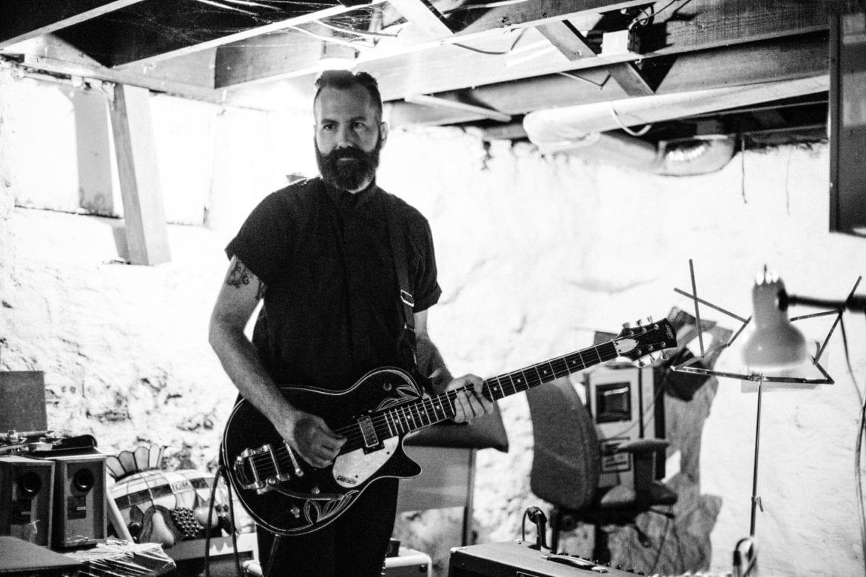 Krystof Nemeth with his guitar