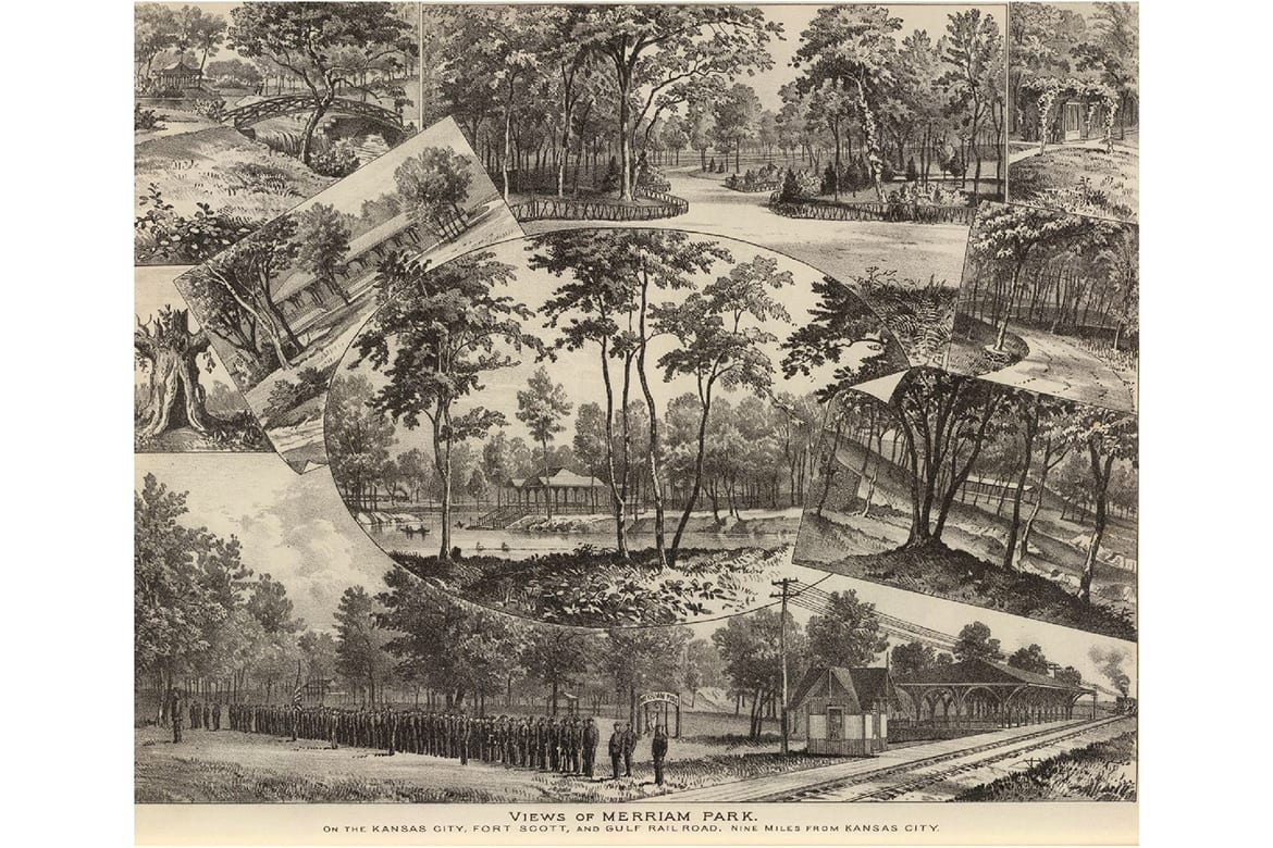 Views of Merriam Park in 1887