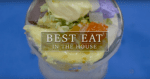 """a frozen-looking dessert with the words """"Best Eat in the House."""""""