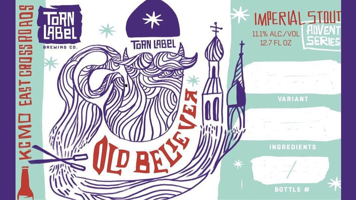 Old Believer is a holiday release for Torn Label Brewing Co.