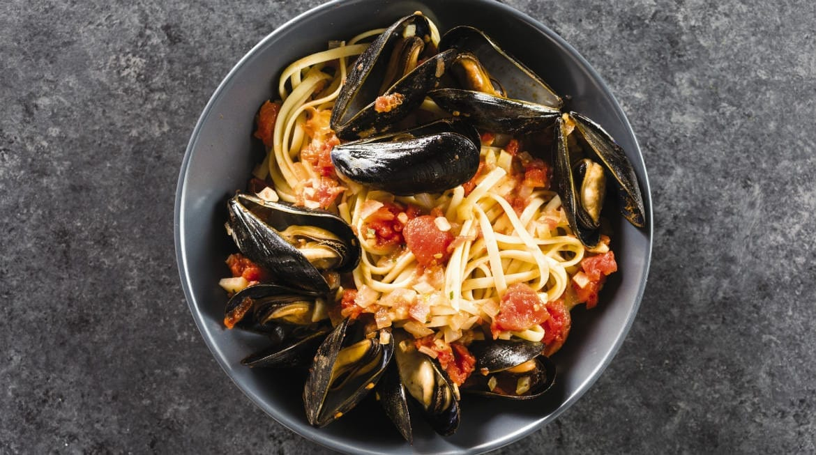This linguine with mussels and fennel recipe