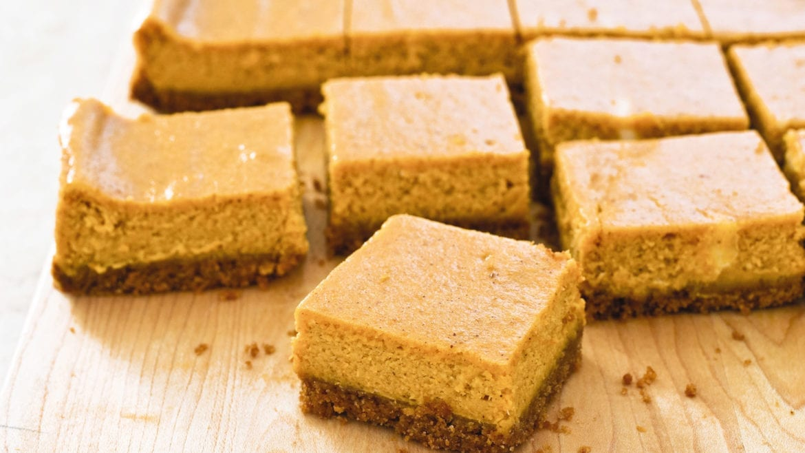 recipe for pumpkin cheesecake bars