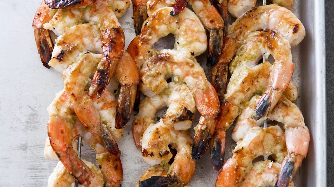 grilled jalapeno and lime shrimp skewers