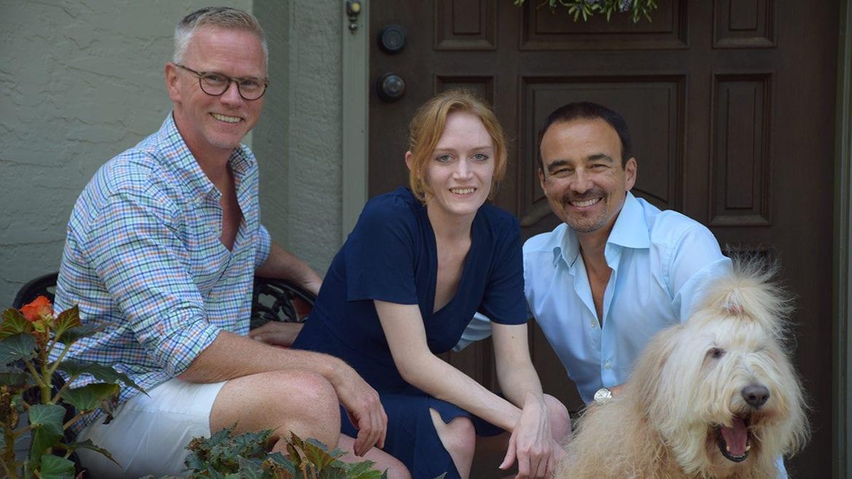 darrel, jessica, lance, and the dog sadie