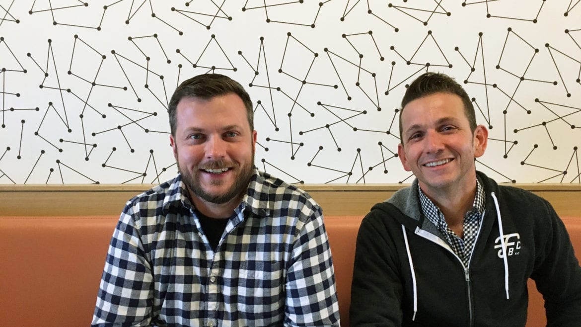 Co-founders Nathan Ryerson and Brent Anderson have been working on Friction Beer Co. for the past two years.