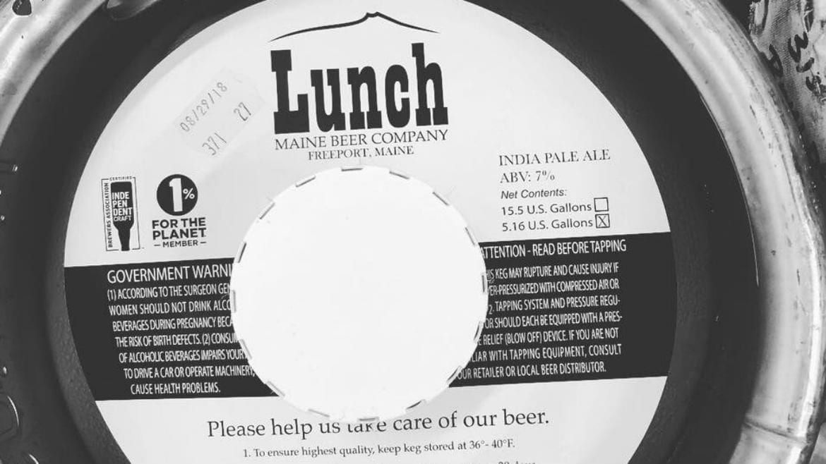 Maine Beer Co.'s Lunch
