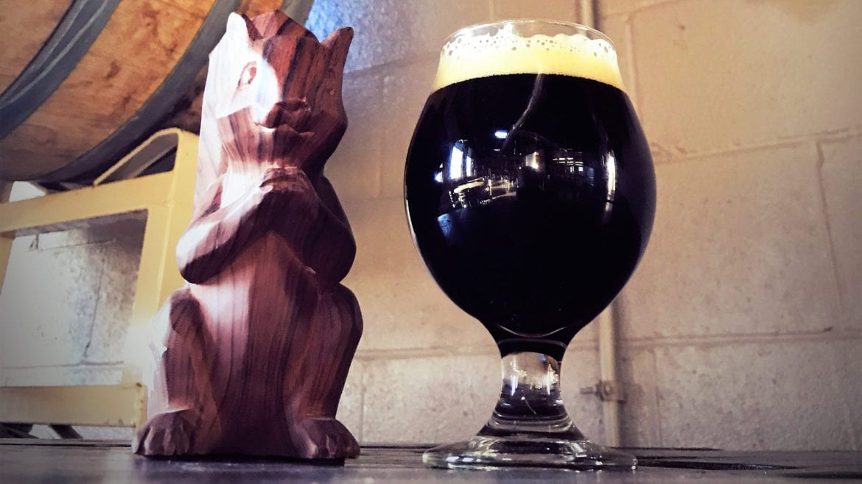 Cinder Block Brewery's Black Squirrel