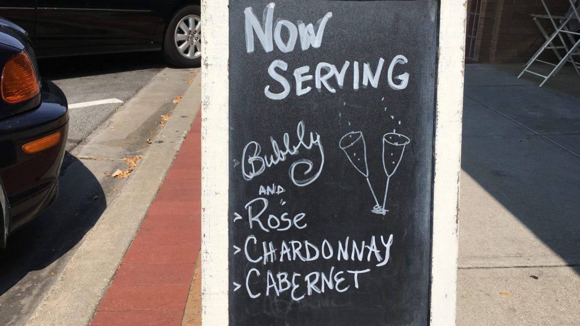 The Upper Crust Pie Bakery serves champagne alongside pie