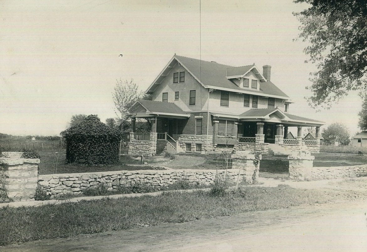 A black and white photo of a home