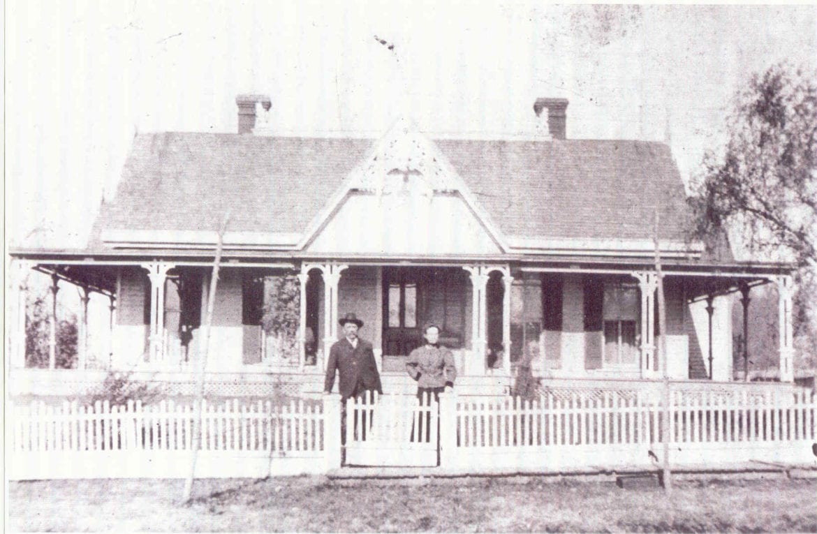 A black and white photo of a home.