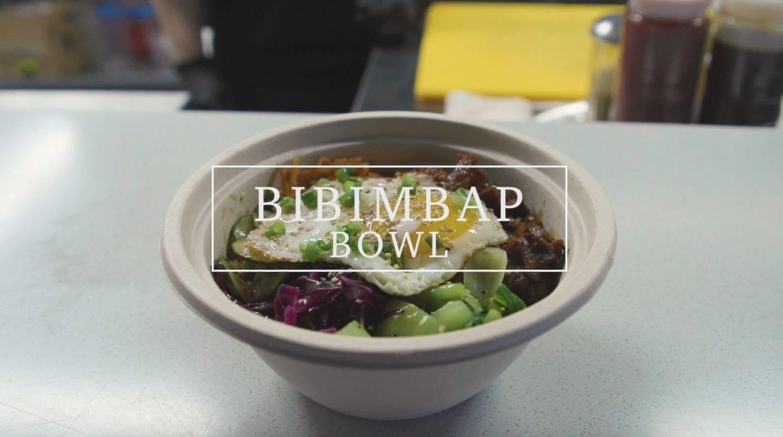 a bowl of Korean food.