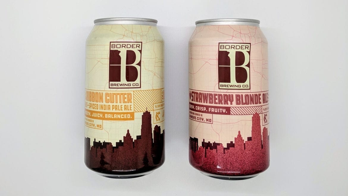 Border Brewing Co.'s Ribbon Cutter and Strawberry Blonde Ale in cans
