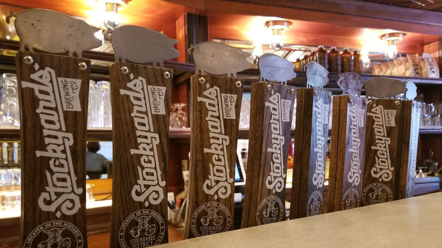 Stockyards Brewing Co. tap handles