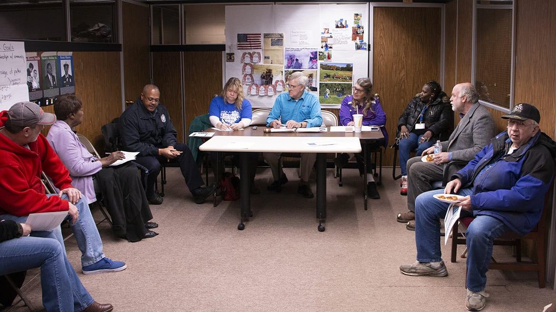 Blue Valley neighborhood association meeting