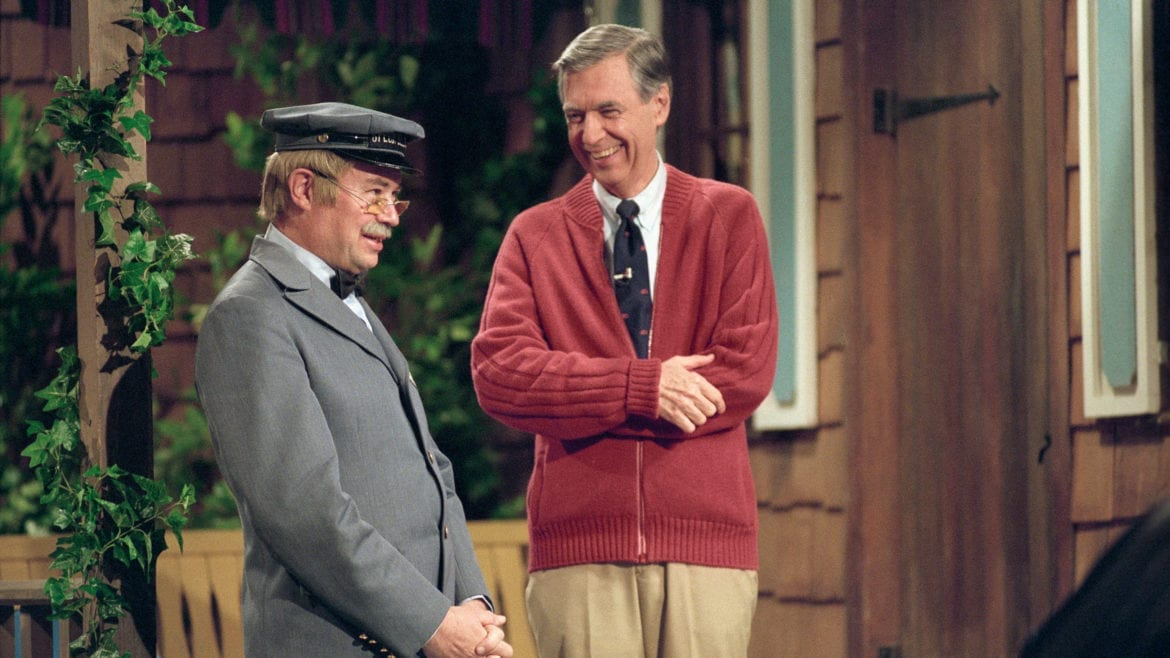 Fred Rogers and David Newell