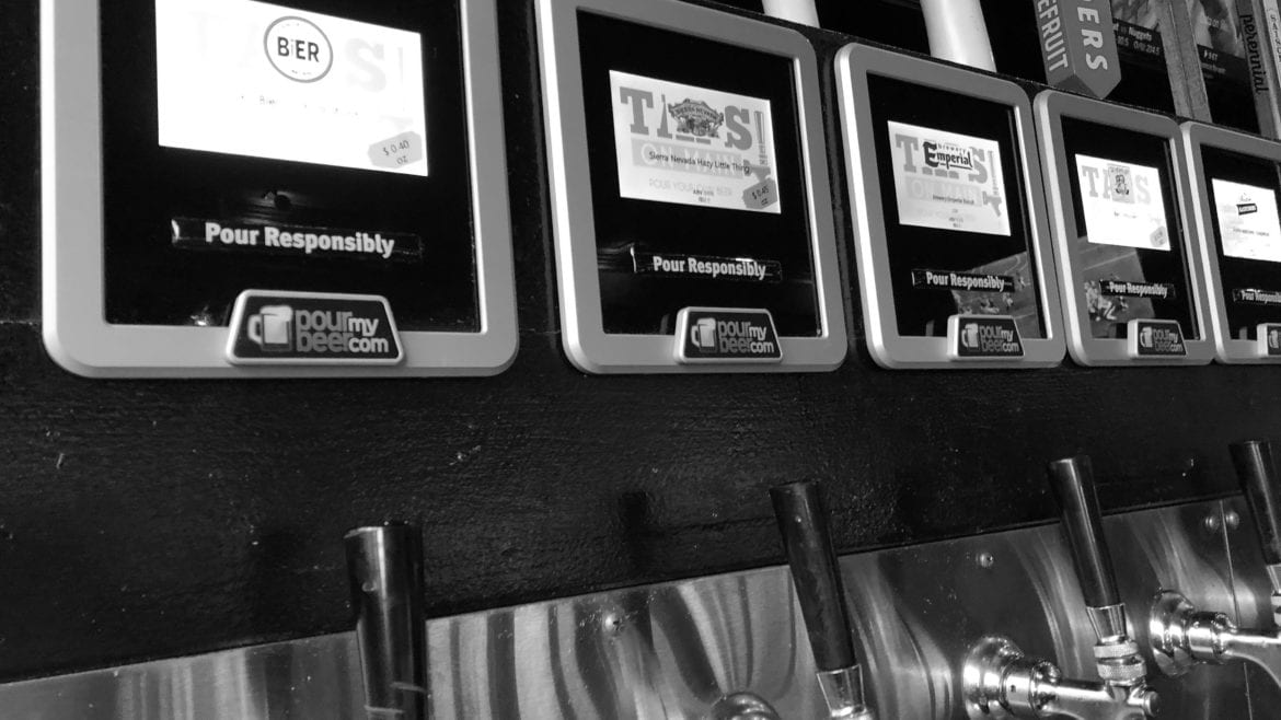 Taps on Main has 40, self-serve, pour-by-the-ounce, beer taps.