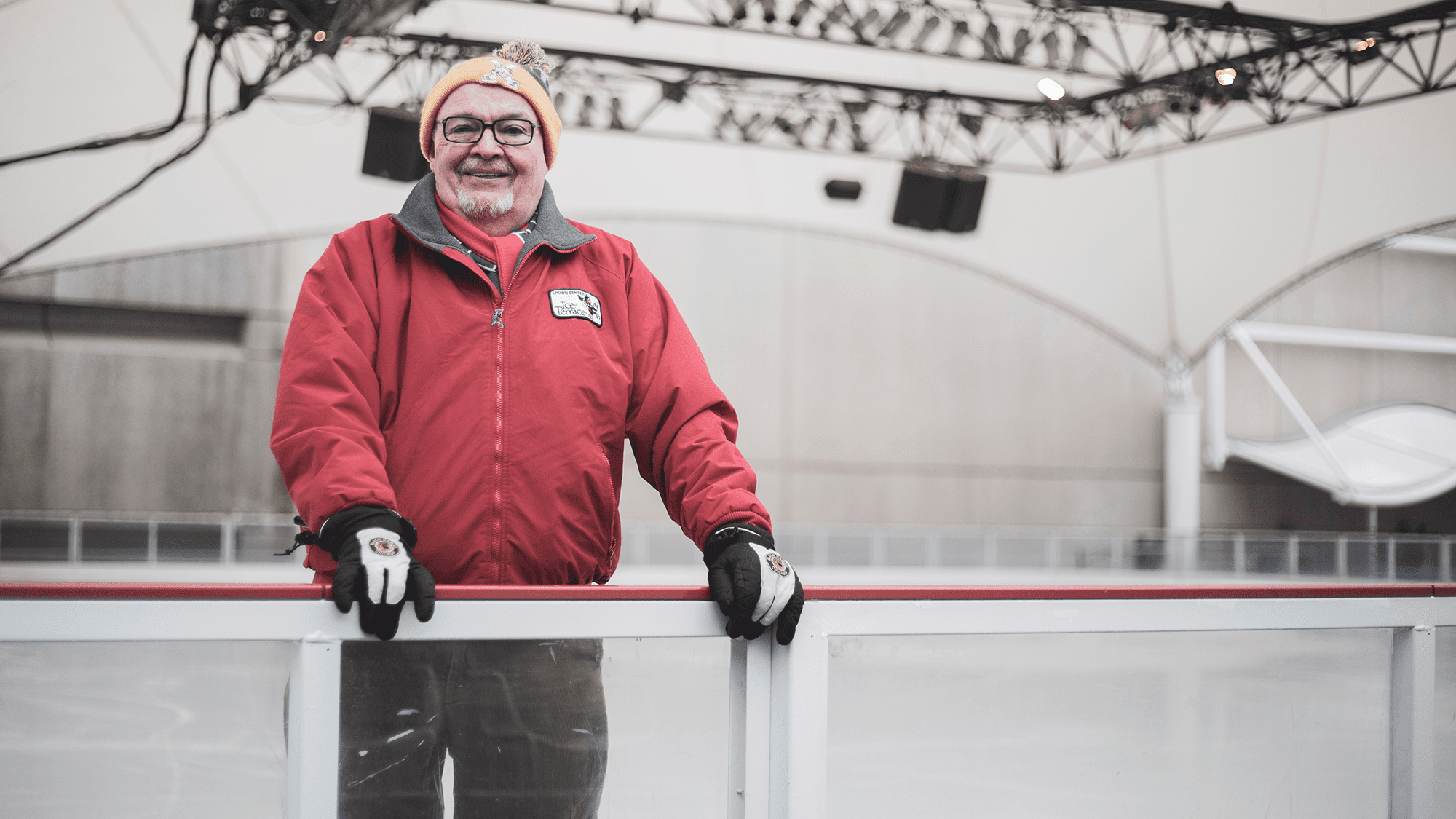 Crown Center ice rink attendant Joe Lynch