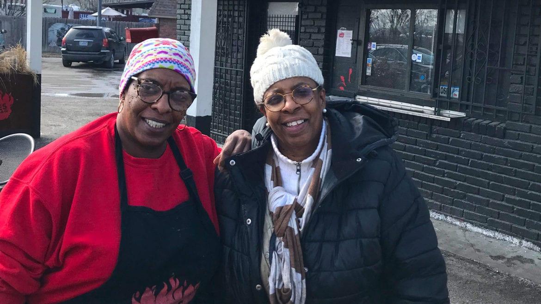 Deborah Jones (right) and her sister-sidekick-business partner Mary Jones Mosley