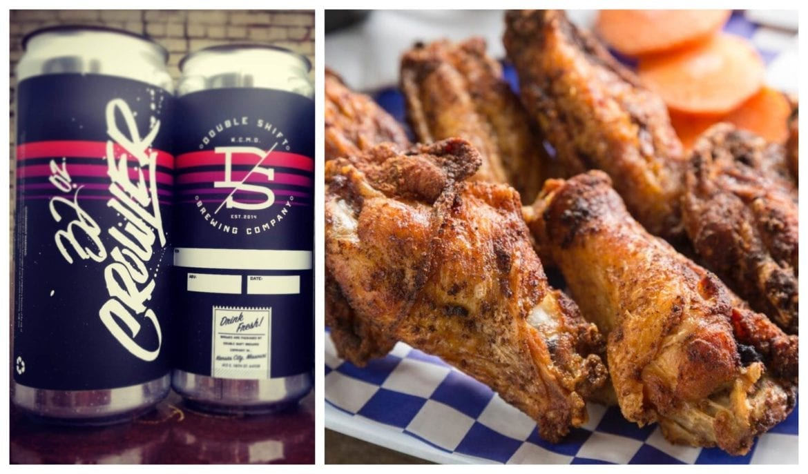 Double Shift has crowlers and Bier Station has a new menu, including chicken wings.
