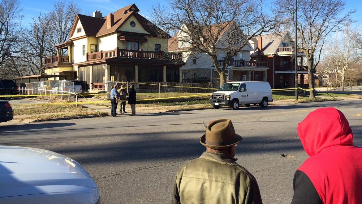 Kansas City police investigate a homicide in late 2015