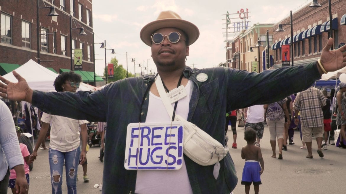 Free hugs at Juneteenth