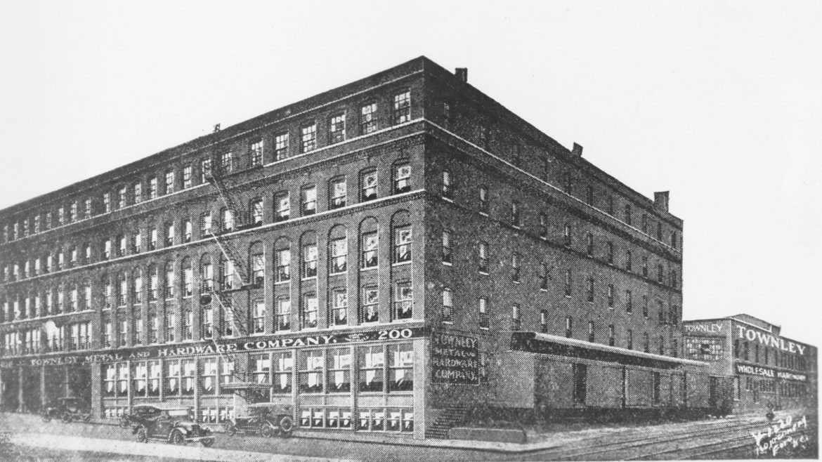 old photo of Townley Metal Co. building
