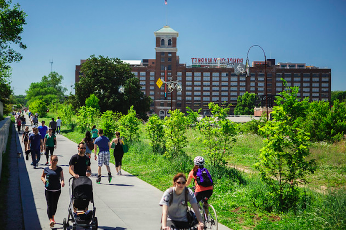 Picture of BeltLine recreational trail in Atlanta.