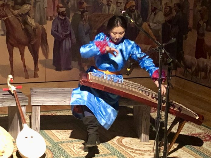 The Genghis Khan exhibition at Union Station also features live performances by Mongolian musicians.