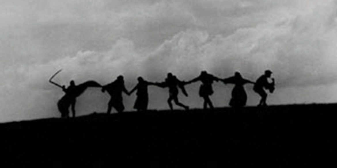 The famous final scene, known as the dance of death, from Ingmar Bergman's