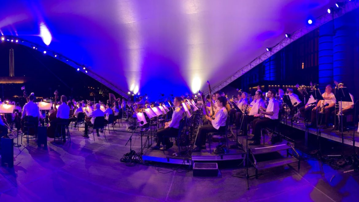 The Kansas City Symphony performs during