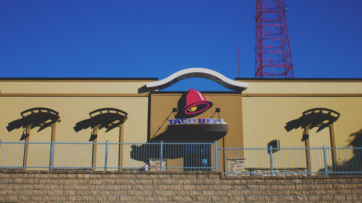 The Taco Bell restaurant on Linwood Boulevard in Kansas City.