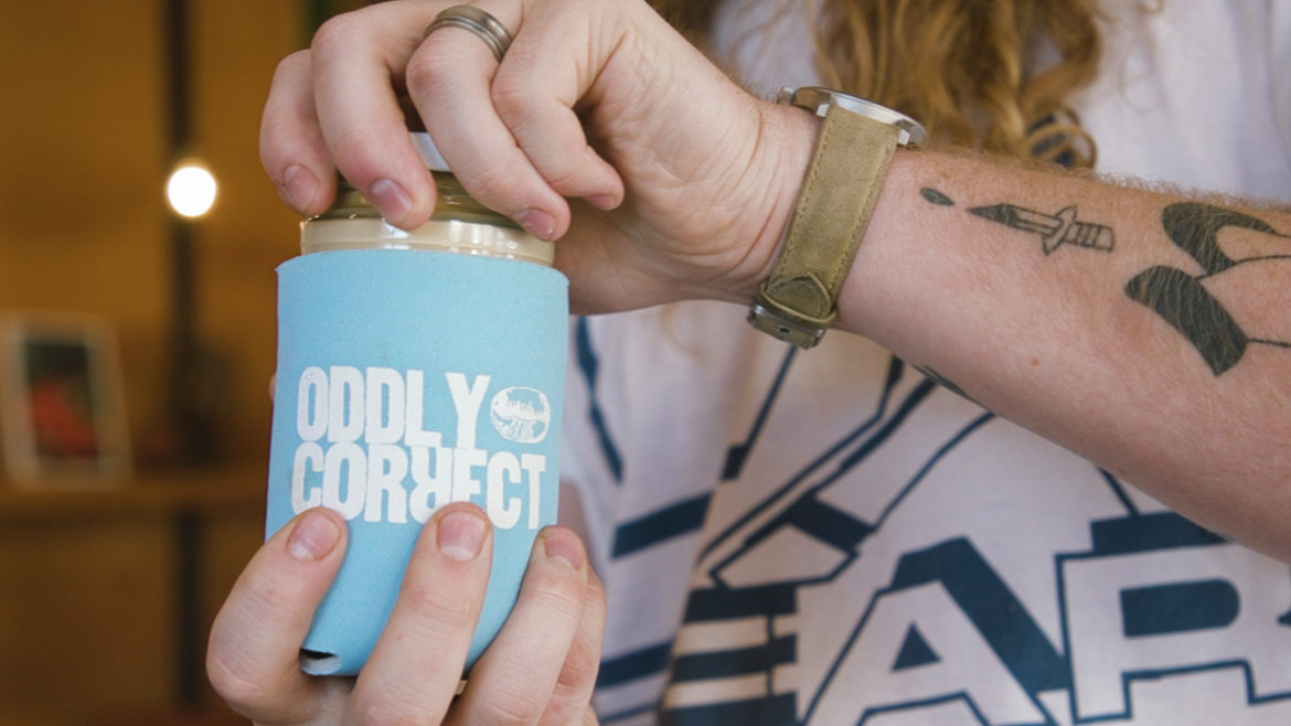 Oddly Correct is now offering reusable glass containers instead of single-use paper and plastic cups.