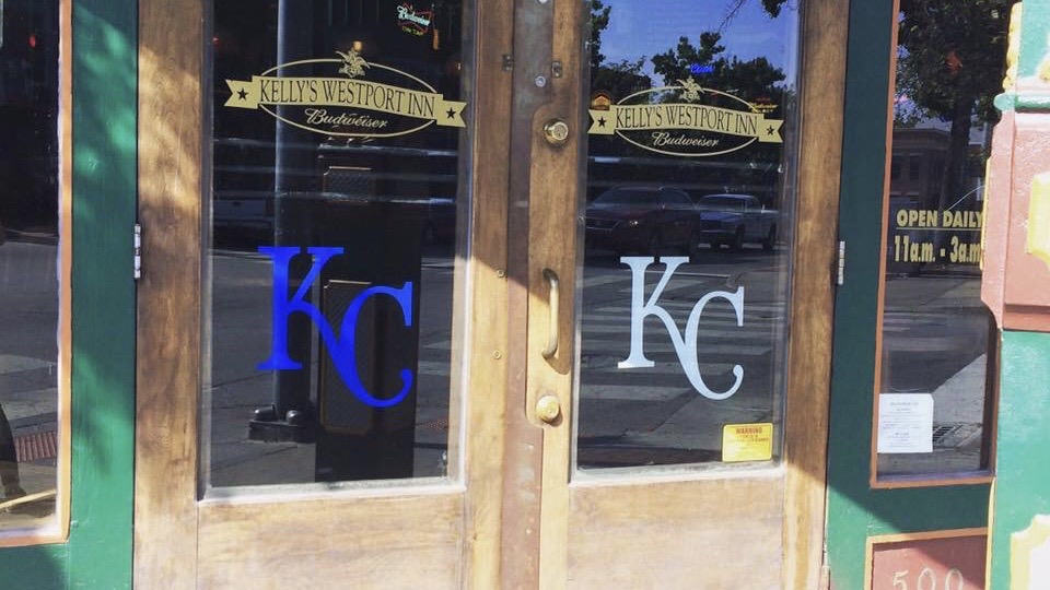 Kelly's doors don the Royals logo