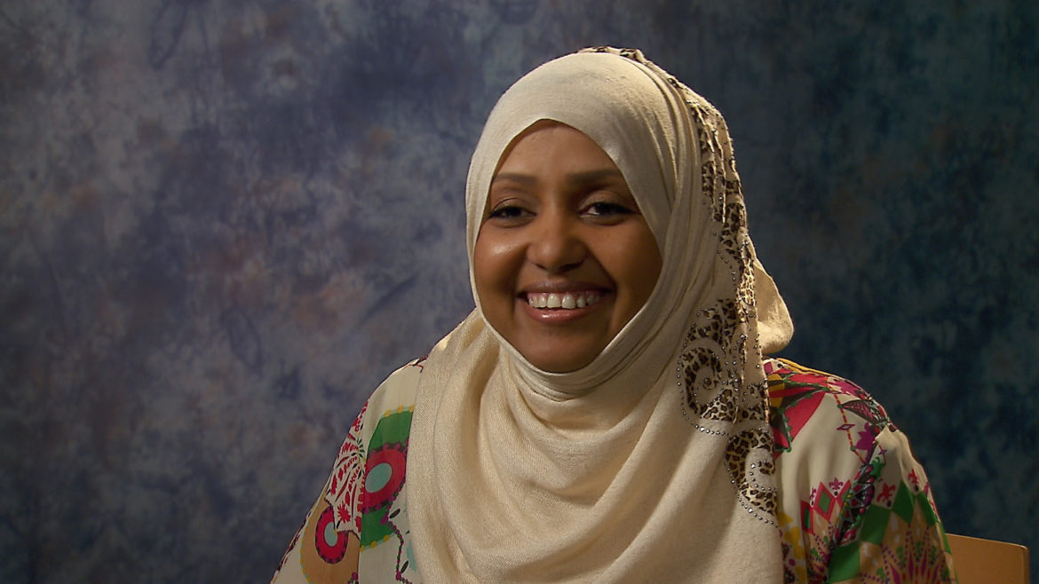 Muna Abdi is a care specialist for Jewish Vocational Service.