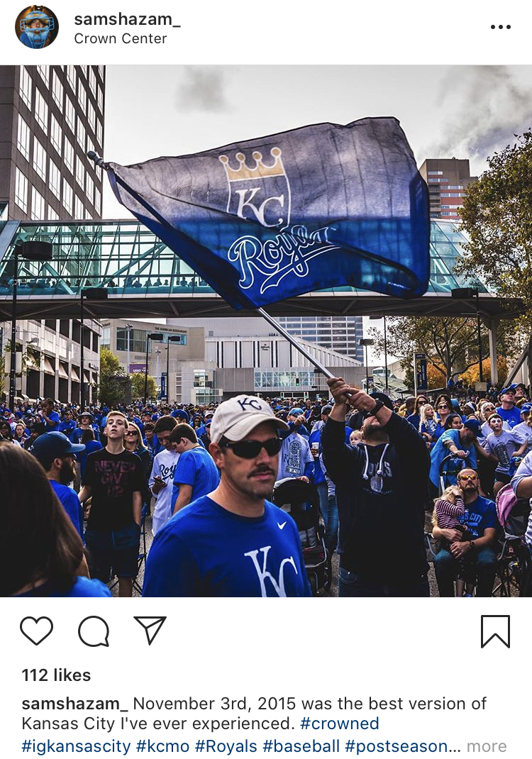 A screen grab of Lutz's Instagram post.
