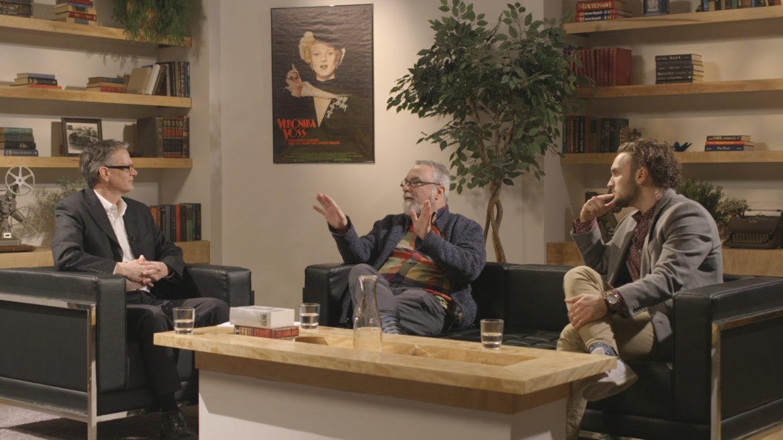 John McGrath, Jerry Harrington and Blake Miller discuss film topics on the premiere episode of