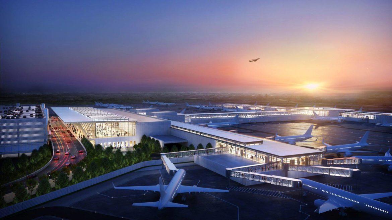 Rendering of new Kansas City International Airport.