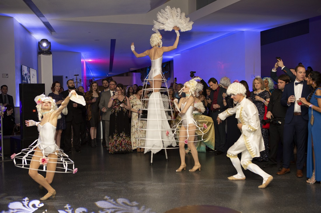 Performers dance at Party Arty 2019.